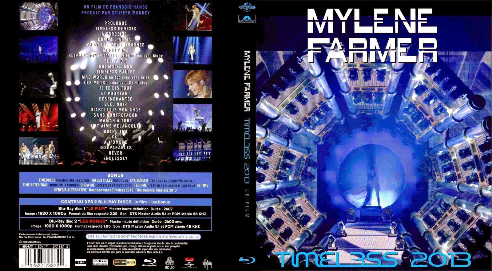 mylene farmer timeless 2013 dvd