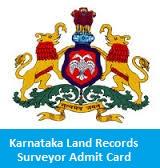 Karnataka Land Records Surveyor Admit Card