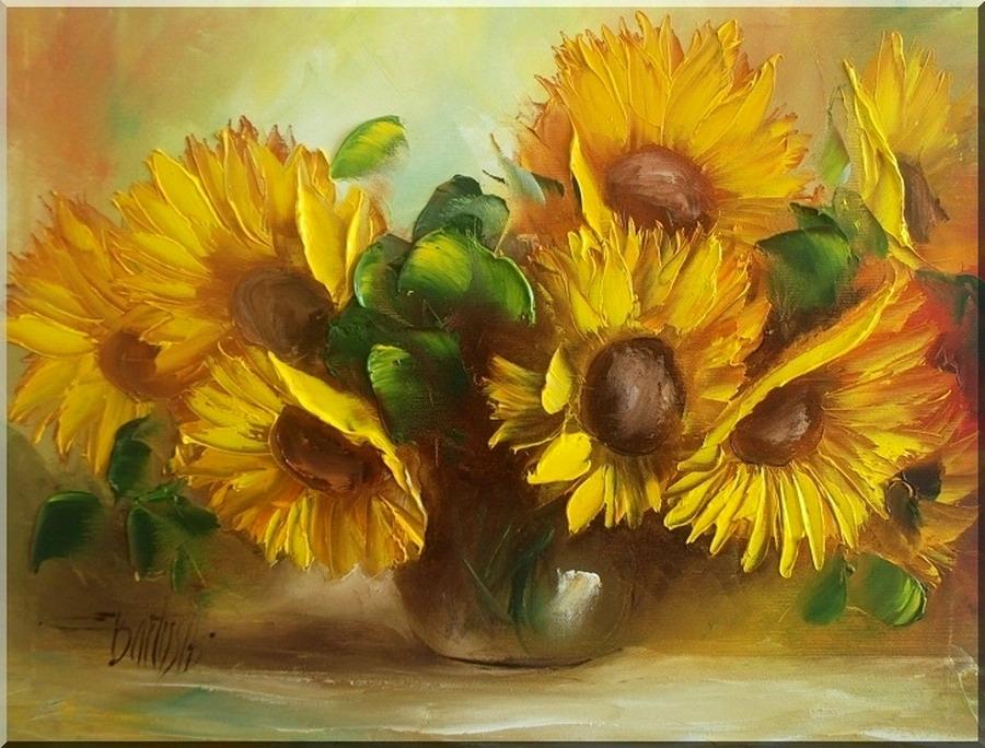 Im genes arte pinturas las rosas y girasoles en pinturas - Fotos jarrones con flores ...