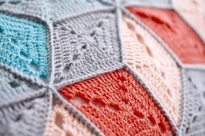 A crochet blanket