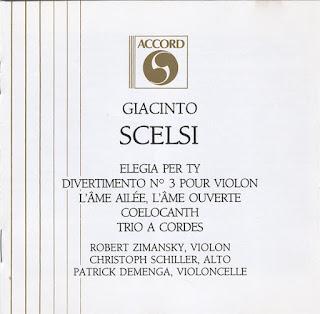 Giacinto Scelsi, Duo, Soli, Trio a Cordes, Accord