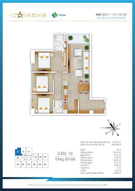 Thiết kế căn hộ 10 - FLC Star Tower