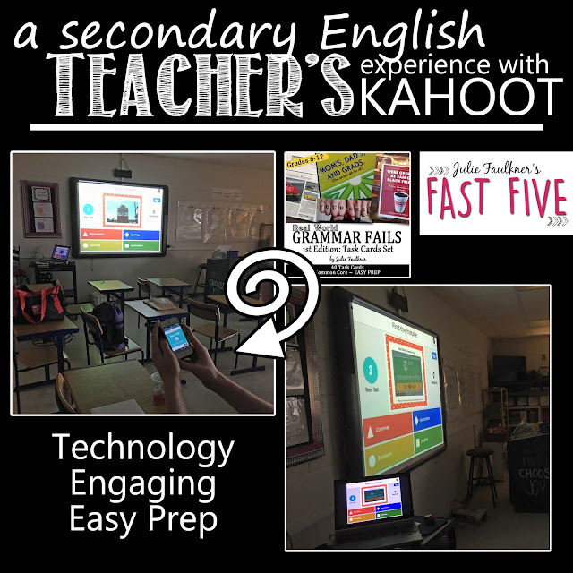 End of Year Creative Activities for Secondary English, Kahoot, Real World Grammar Fails