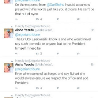 Ezekwesili NEVER Said Buhari Don't Deserve To Be President, Here Is What Transpired