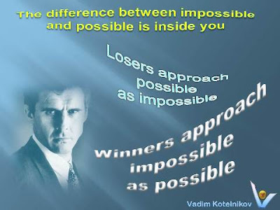The difference between impossible and possible