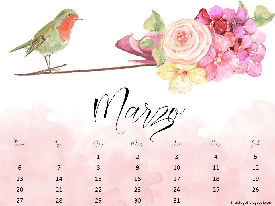 foto de Calendarios Marzo 2016 para imprimir The Blog By Taina