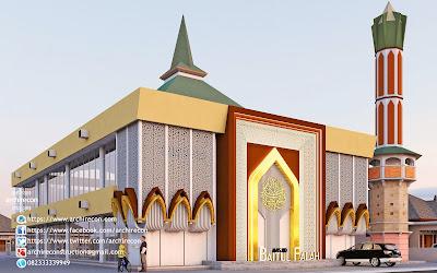 Renovasi Eksterior Dan Mihrab Masjid - Animasi Halaman Depan Masjid