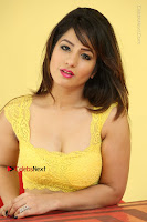 Cute Telugu Actress Shunaya Solanki High Definition Spicy Pos in Yellow Top and Skirt  0577.JPG