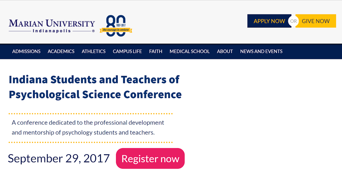 Indiana Students and Teachers of Psychological Science Conference