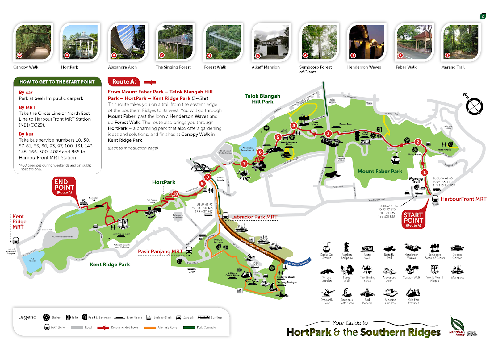 Southern Ridges latest map - including Labrador Nature ...