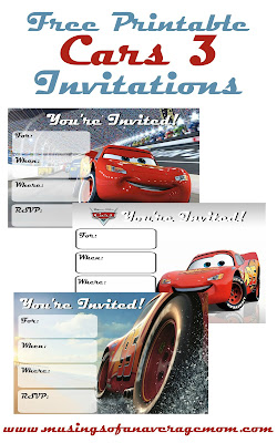 cars 3 birthday invitations