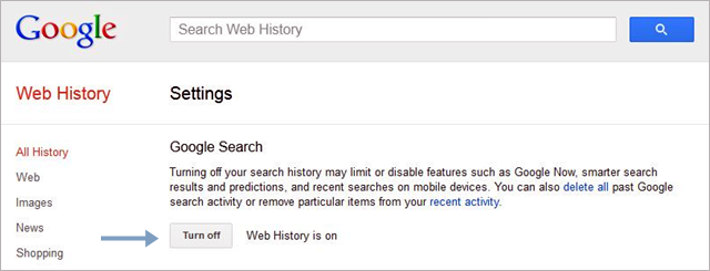 Remove/Turn Off Google Web History/New Google Trick