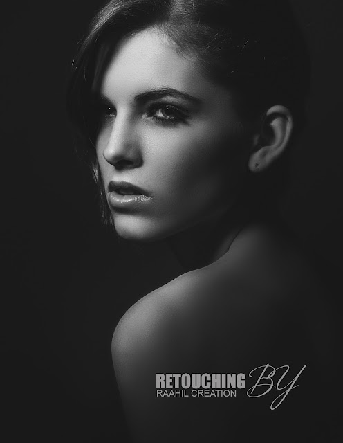 Retouching black and white beauty