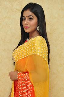 Actress Poorna Latest Stills in Saree at Naturals Beauty Salon Launch  0006.JPG