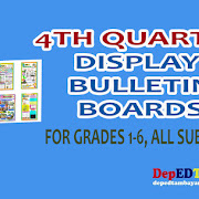 K-12 Display Bulletin Boards for Grades 1-6, 4th Quarter
