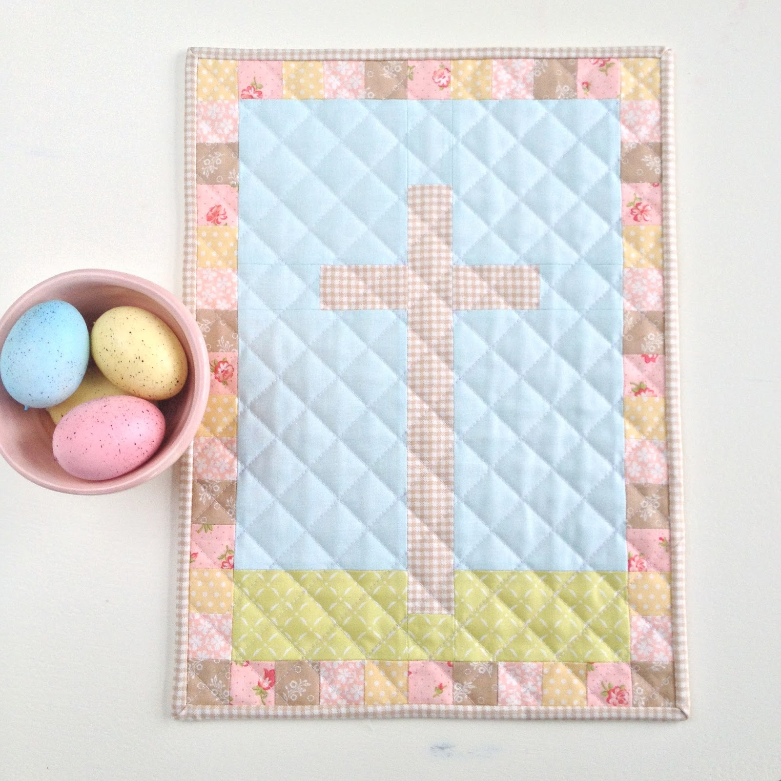 Carried Away Quilting Free Easter Mini Quilt Pattern