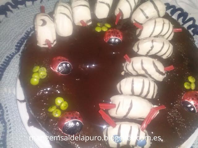 adornar-tarta-donetes-gusano