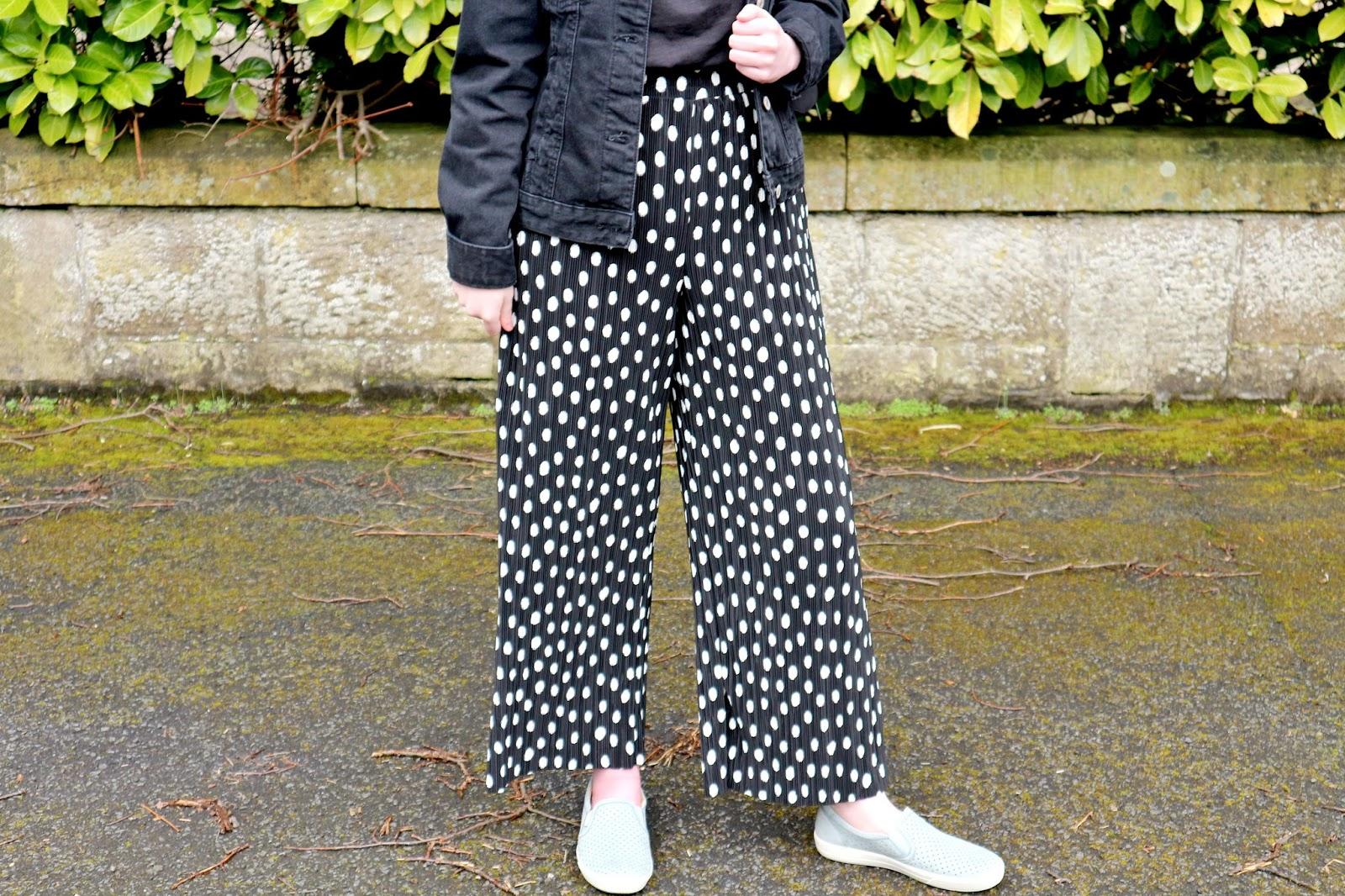 topshop plisse trousers