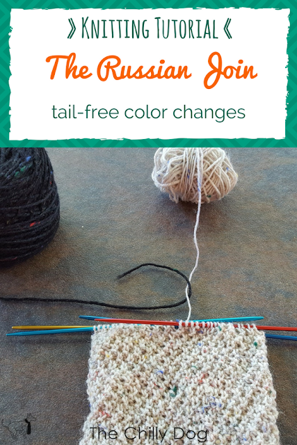 Learn how to use the Russian join to change colors in your knitting and eliminate yarn tail weaving