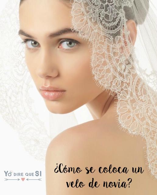 ¿Cómo se coloca el velo del vestido de novia?