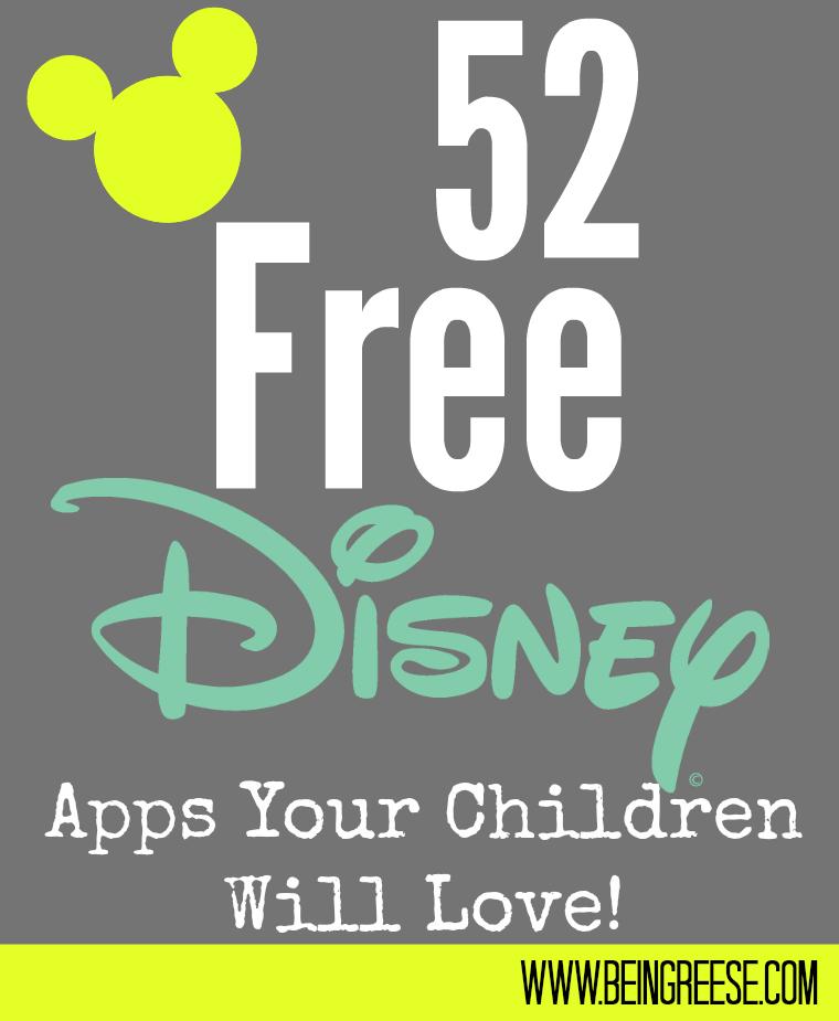 52 free Disney Apps