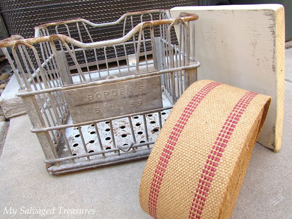 how to repurpose an old metal milk crate