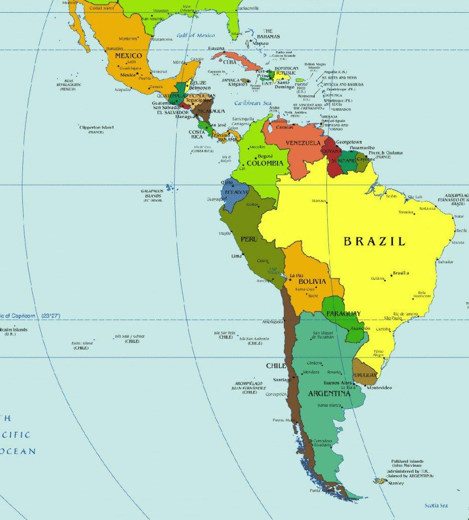 photograph regarding Western Hemisphere Map Printable named Gacekblog: Western Hemisphere