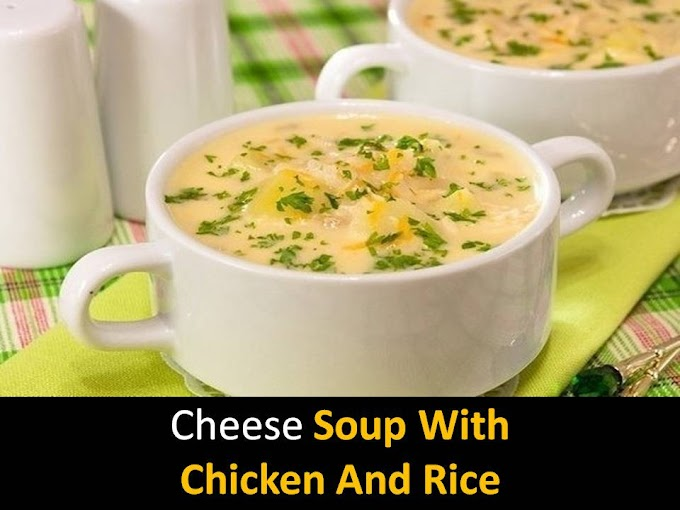 Cheese soup with chicken and rice