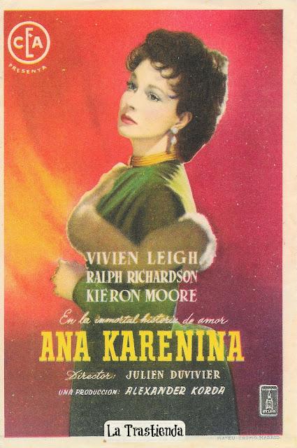 Programa de Cine - Ana Karenina - Vivien Leigh - Ralph Richardson