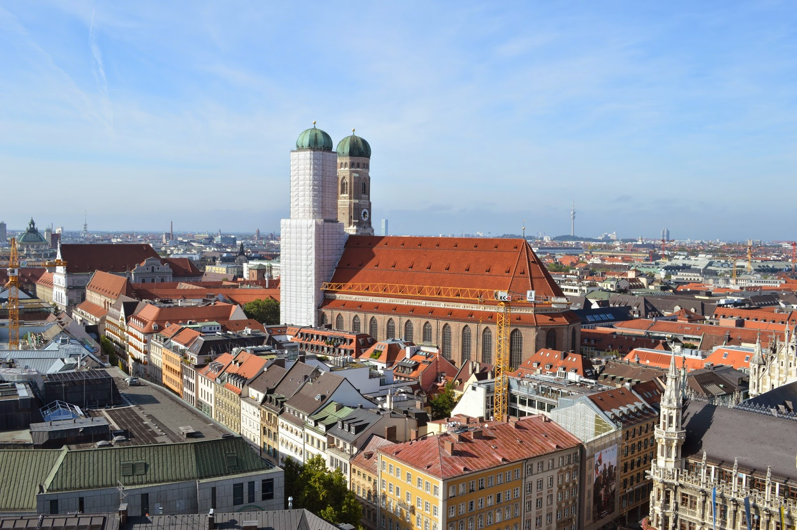 View of Frauenkirche from the top of Kirche St. Peter's Tower