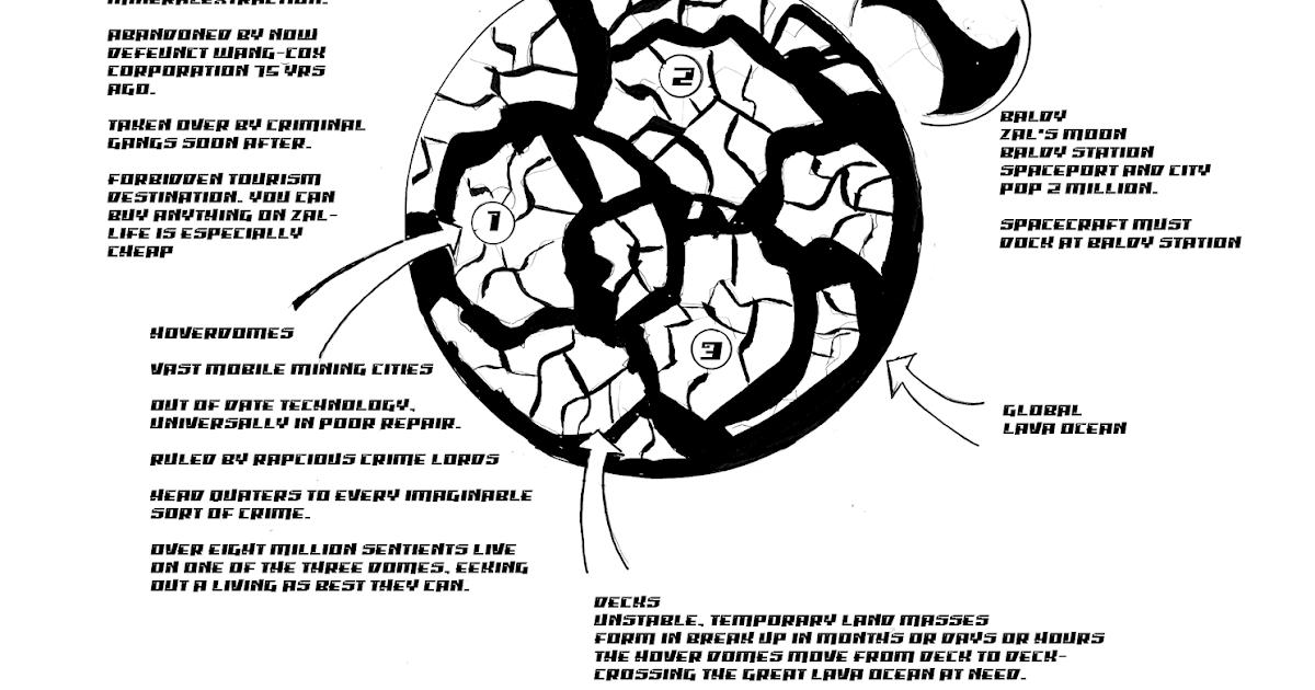 Metal Earth: Planet Zal (Map, handout)