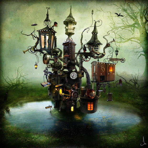Fairy Tree House Art