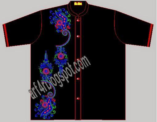 Contoh Motif Bordir Baju Koko ramadhan Terbaru 2016
