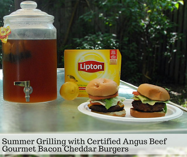 Quick and Tasty Certified Angus Beef Gourmet Bacon Cheddar Burgers