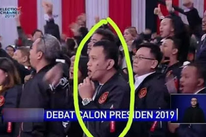 Fotonya Viral, Karding Jelaskan Soal Handy Talkie Saat Debat Berlangsung
