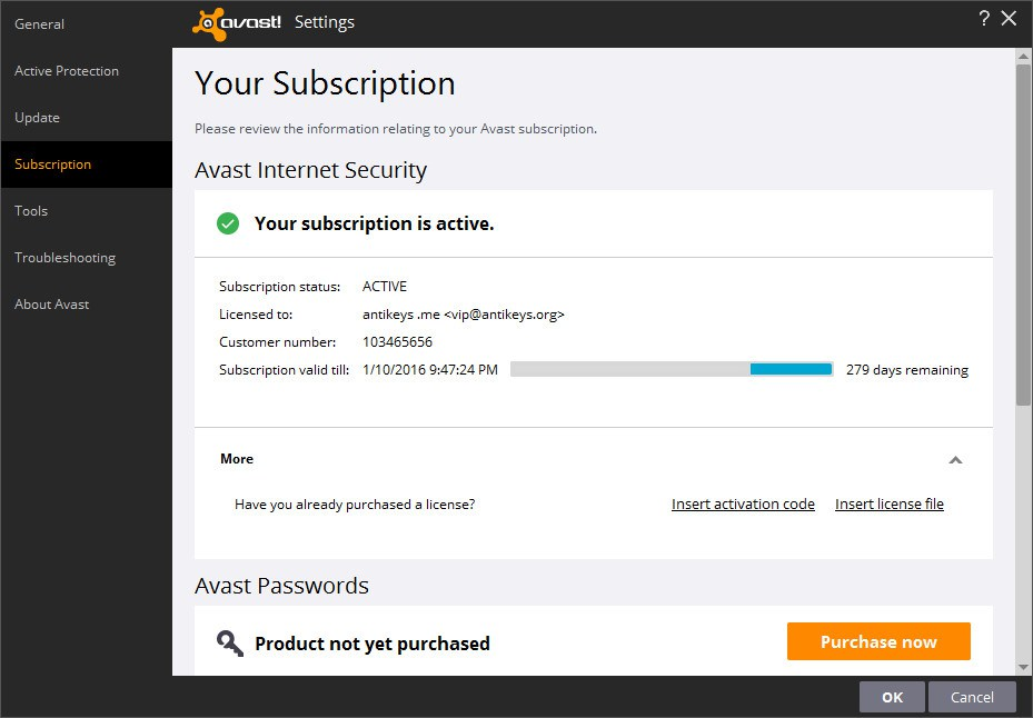 avast premier activation code 2016 free