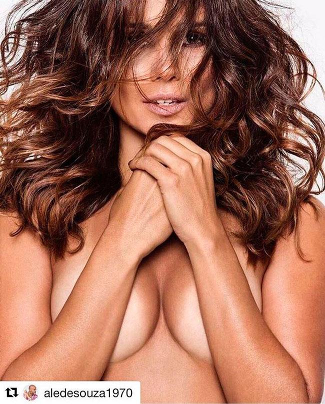 Imagem compartilhada de Paula Fernandes de topless no Instagram