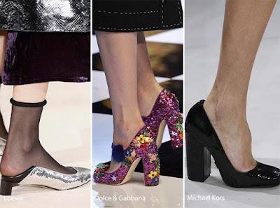 zapatos de tacón con lentejuelas