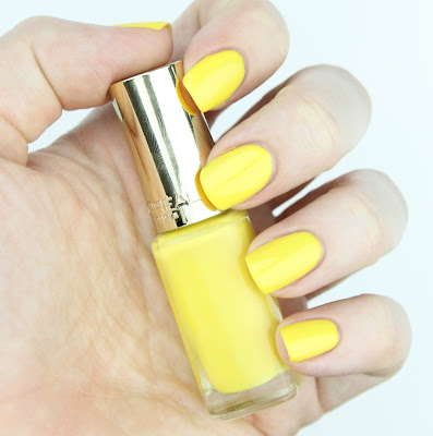 L'Oreal Color Riche Le Vernis nail polish 240 Pop Corn review swatch swatches