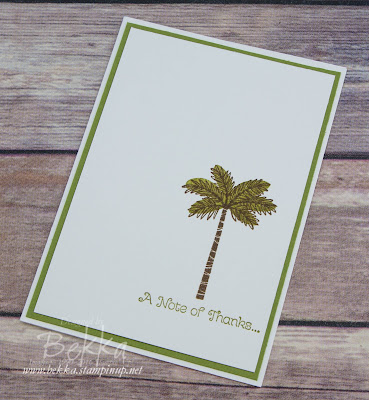 Make In A Moment Palm Tree Thank You Card featuring the Totally Trees Stamp Set from Stampin' Up! UK