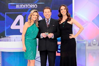 Beca, Silvio e Chris - Crédito: Lourival Ribeiro/SBT