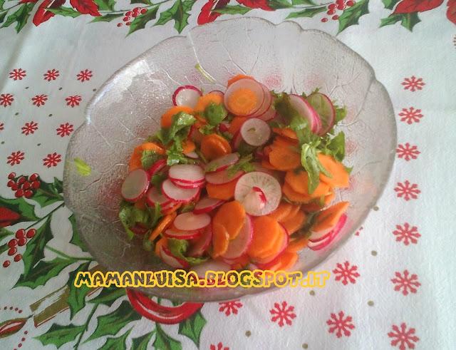 insalata di  ravanelli e carote
