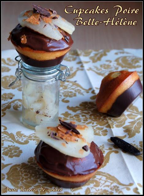 juste histoire de go ter cupcakes poire belle h l ne. Black Bedroom Furniture Sets. Home Design Ideas