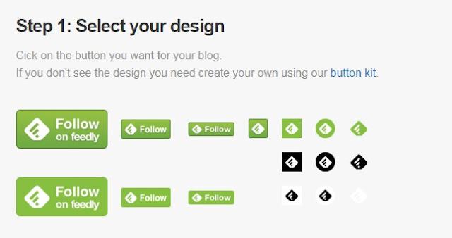 Primer paso para añadir un botón de Feedly