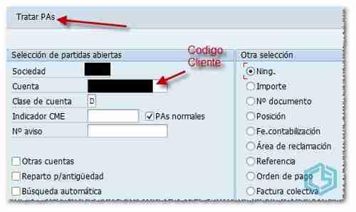 Tratar partidas abiertas - Consultoria-SAP