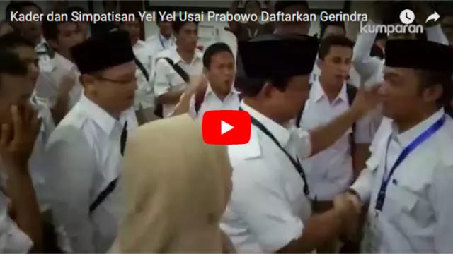 Teriakan 'Prabowo Presiden' Menggema di KPU RI