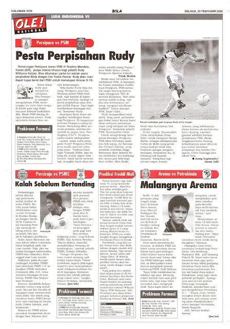 PERSIPURA VS PSM PESTA PERPISAHAN RUDY