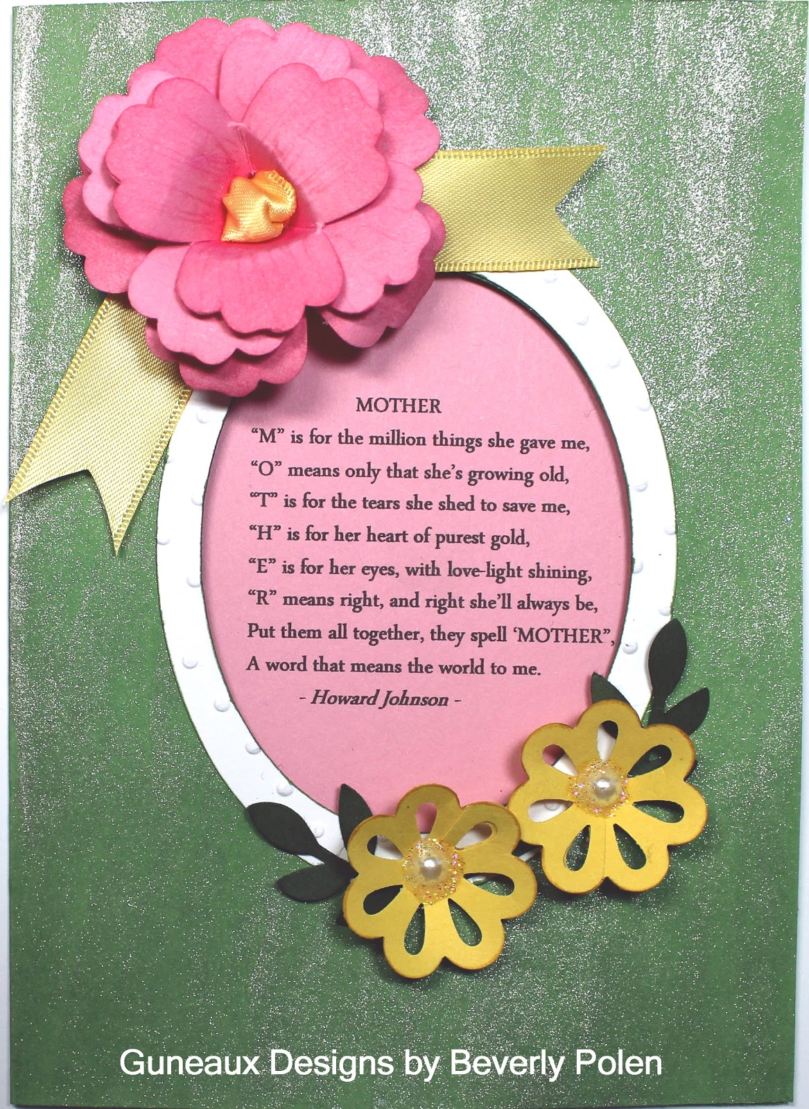 Guneaux Designs By Beverly Polen Mother Mothers Day Card 2012