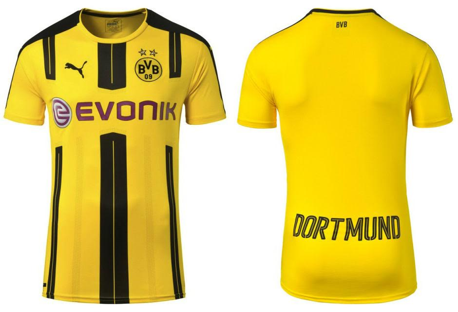 uniforme feminino do borussia dortmund