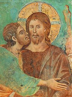 Giuda Iscariota bacia Gesù